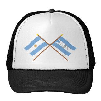 Argentina and Corrientes Crossed Flags Cap