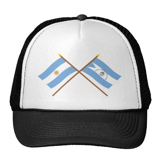 Argentina and Corrientes Crossed Flags Mesh Hat