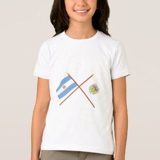 Argentina and San Luis Crossed Flags T Shirts