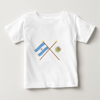 Argentina and San Luis Crossed Flags T-shirts