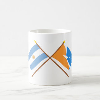 Argentina and Tierra del Fuego Crossed Flags Basic White Mug