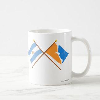 Argentina and Tierra del Fuego Crossed Flags Coffee Mug