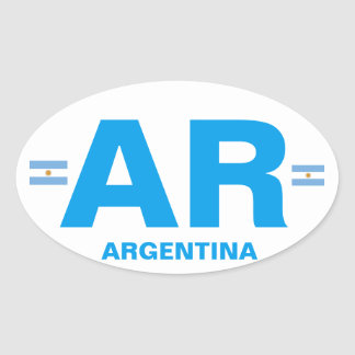 Argentina - AR Euro-style Oval Sticker