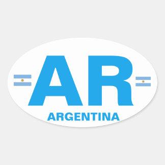 Argentina AR Euro-style Oval Sticker