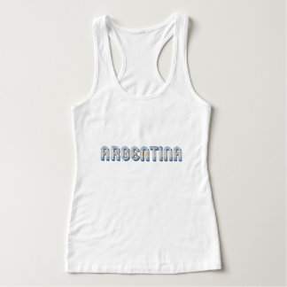 Argentina Argentine Flag Colors Typography Tank Top