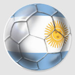 Argentina Argentine Soccer Ball Shirts Classic Round Sticker