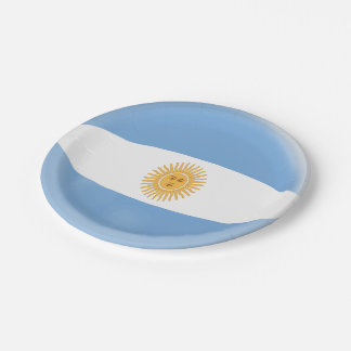 Argentina Argentinian Flag Paper Plate