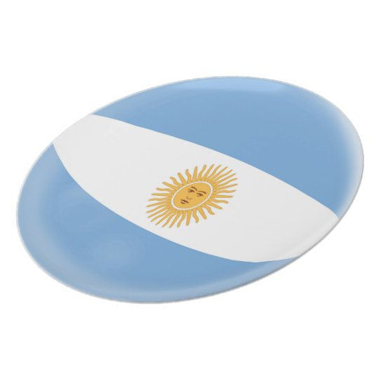 Argentina Argentinian Flag Plate