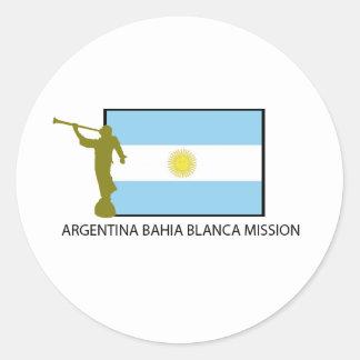 Argentina Bahia Blanca Mission Round Stickers