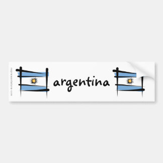 Argentina Brush Flag Bumper Sticker