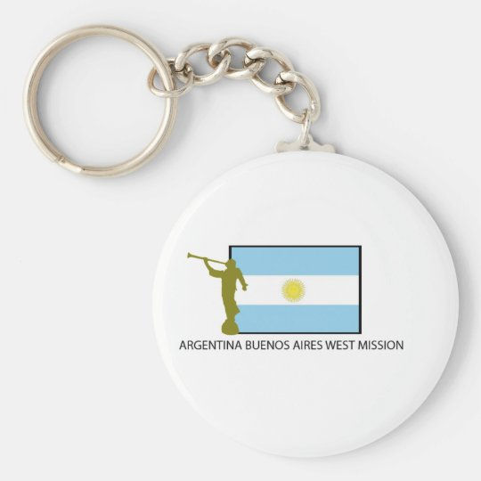 ARGENTINA BUENOS AIRES WEST MISSION LDS BASIC ROUND BUTTON KEY RING