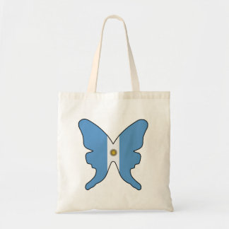 Argentina Butterfly Budget Tote Bag