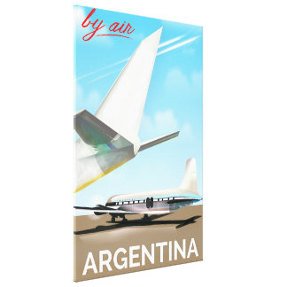 "Argentina ""By Air"" vintage flight poster Canvas Print"