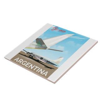 "Argentina ""By Air"" vintage flight poster Tile"