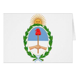 Argentina Coat of arm AR Card