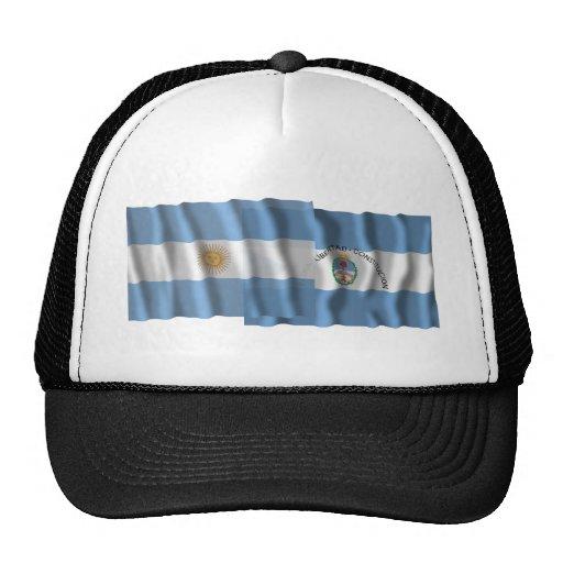 Argentina & Corrientes waving flags Hats