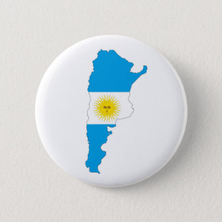 argentina country flag map shape symbol 6 cm round badge