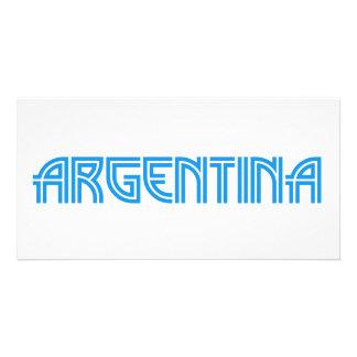 Argentina design custom photo card
