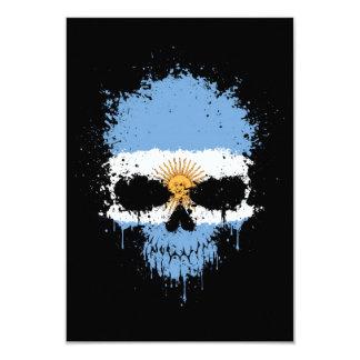 Argentina Dripping Splatter Skull Personalized Invitations