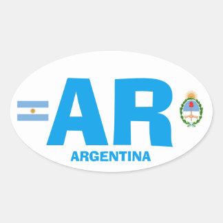 Argentina Euro Style Oval Wisker Oval Sticker