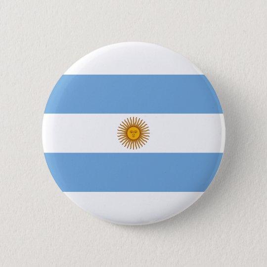 Argentina Flag 6 Cm Round Badge