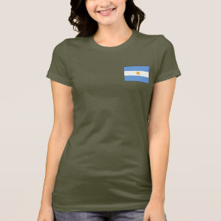 Argentina Flag and Map dk T-Shirt