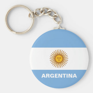 Argentina Flag Button Keychain