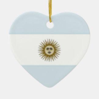 Argentina Flag Ceramic Heart Decoration