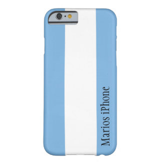 Argentina Flag Customizable iPhone 6 case Barely There iPhone 6 Case