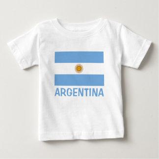 Argentina Flag Customizable Text Baby T-Shirt