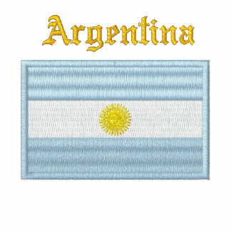 Argentina Flag Embroidered Polo Shirt