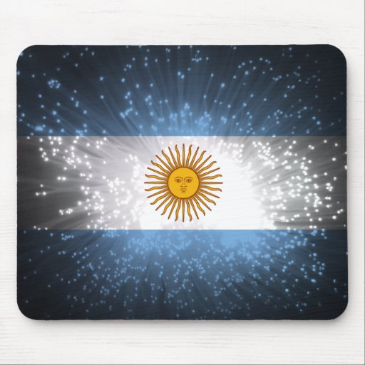 Argentina Flag Firework Mousepads
