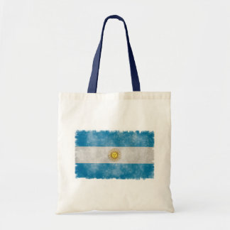 Argentina Flag Grunge Style Tote Bag