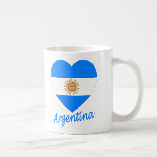 Argentina Flag Heart Coffee Mug
