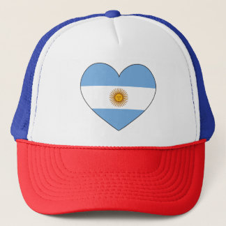 Argentina Flag Heart Trucker Hat