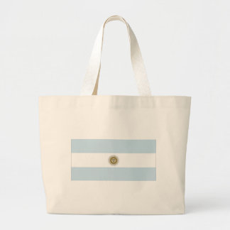 Argentina Flag Large Tote Bag