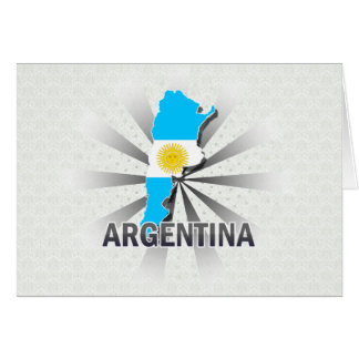 Argentina Flag Map 2.0 Greeting Card