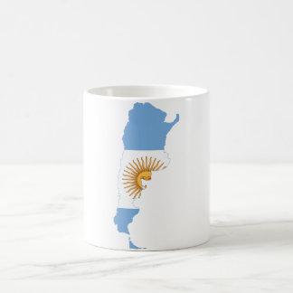 Argentina Flag map AR Coffee Mug