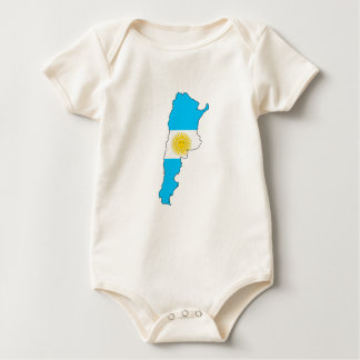 Argentina flag map baby bodysuit