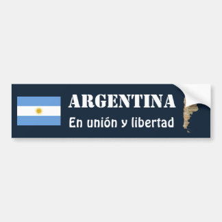 Argentina Flag + Map Bumper Sticker
