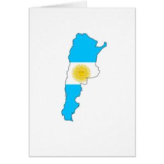 Argentina flag map card
