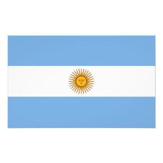 Argentina Flag Photographic Print