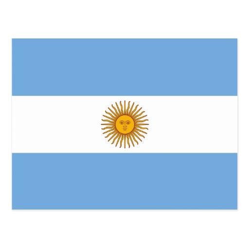 Argentina Flag Postcard