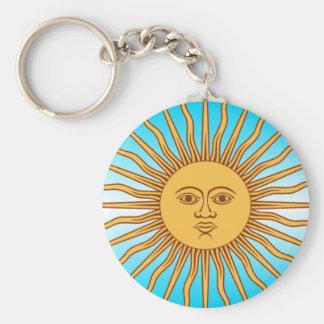 Argentina - Flag Sun - Keychain