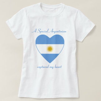 Argentina Flag Sweetheart T-Shirt