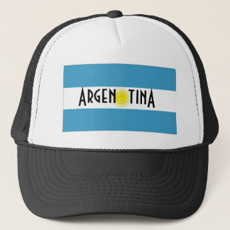 Argentina flag trucker mesh souvenir hat