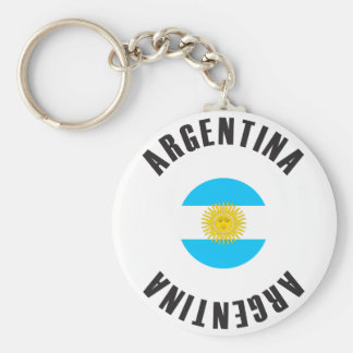Argentina Flag Wheel Key Ring