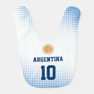 Argentina Flag with Baby Favorite Player Number Bib