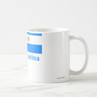 Argentina Flag with Name Coffee Mug