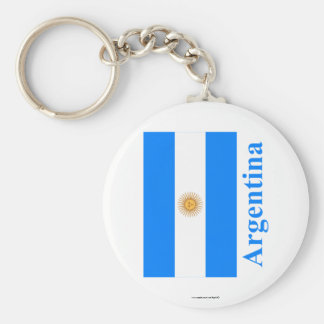 Argentina Flag with Name Key Ring